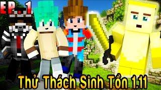 Oops Club Minecraft Thử Thách Sinh Tồn 1.11 - Tập 1 : CHUỐI NGÔN LÙ