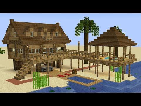 Minecraft - How To Build A Beach House