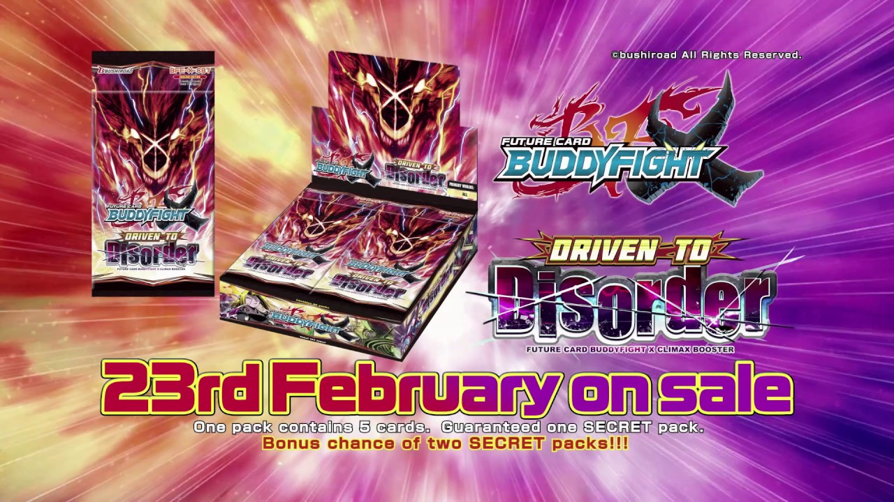 Video Future Card Buddyfight X Climax Booster Driven To Disorder