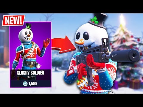 New SLUSHY SOLDIER Snowman Skin!! (Fortnite Live Gameplay)