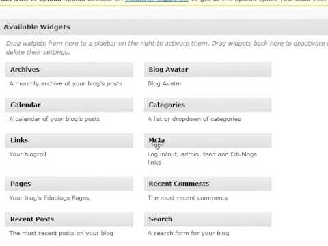 edublog categories