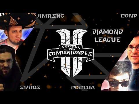 🔴 GRAN GUERRA DE COMUNIDADES!!!! Jimrising vs Poblha vs Skros vs Bond