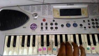 """Thuppakki  theme music """"Jagdish On Misssion Theme"""" on keyboard"""