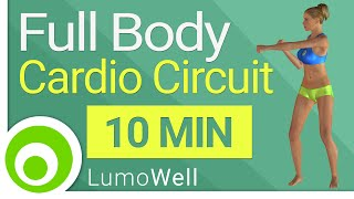 Full body cardio circuit: complete fat burning workout to lose weight (10 minutes)