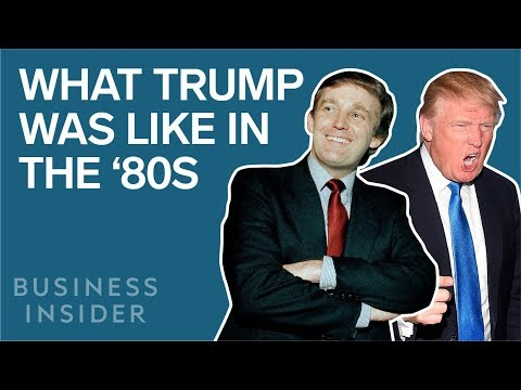 How Donald Trump Has Changed Since The \'80s
