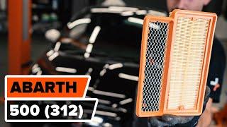 ABARTH 500 / 595 hátsó és első Lengőkar beszerelése: videó útmutató