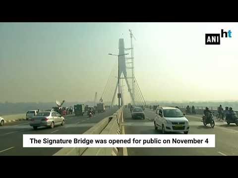 2 dead after bike rams into divider on Delhi's Signature Bridge