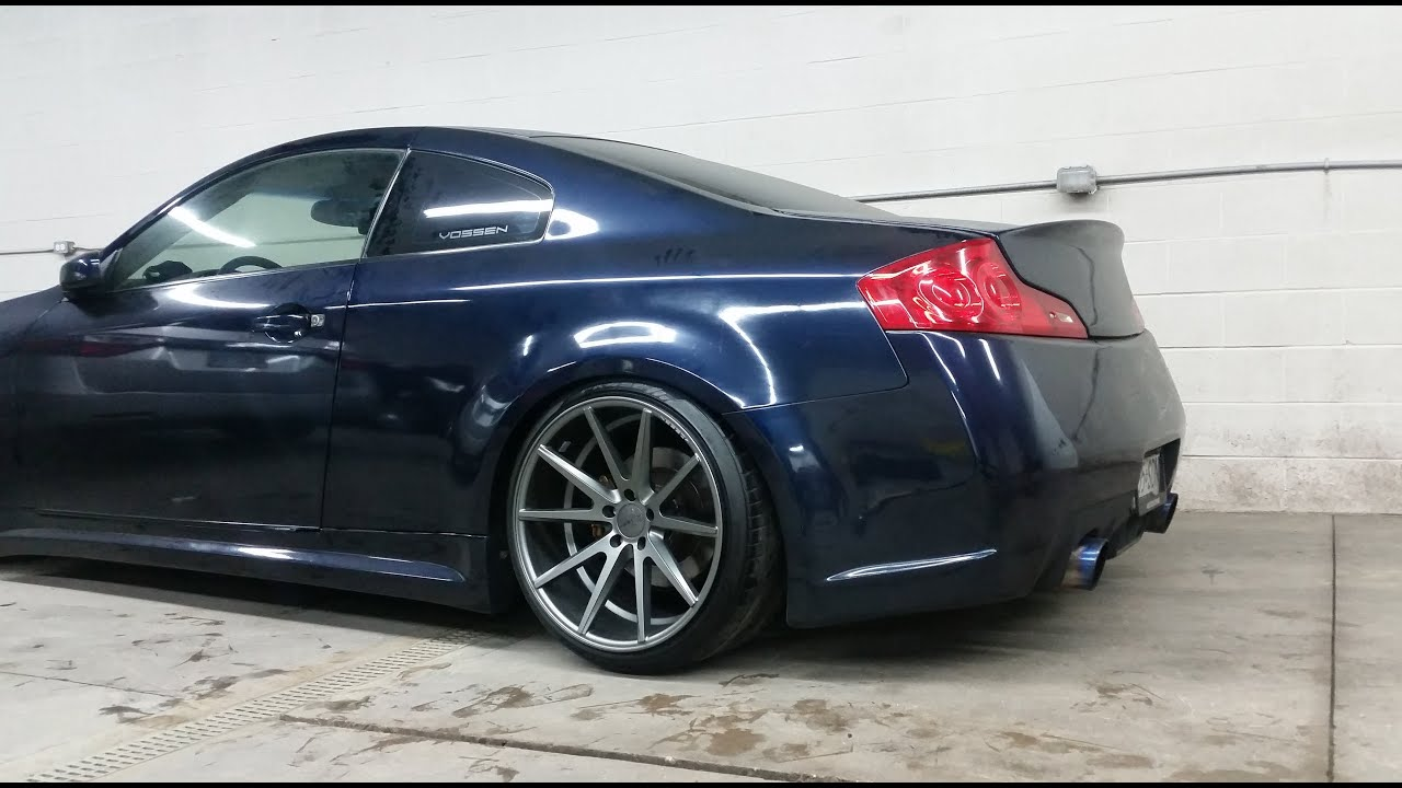 New Infiniti G35 Coupe >> NEW WHEELS! Test Fitting My Vossen VFS1 20x12 - YouTube