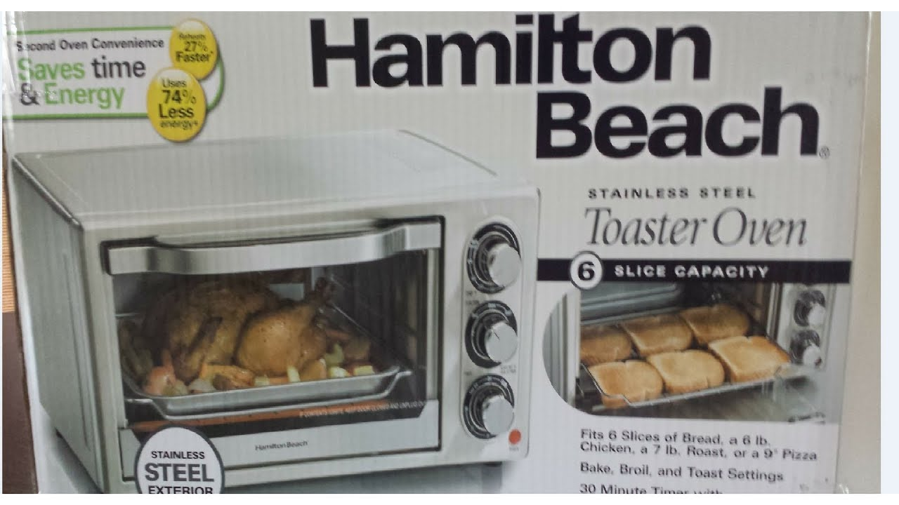 Hamilton Beach Toaster Oven Broil and Bake Model