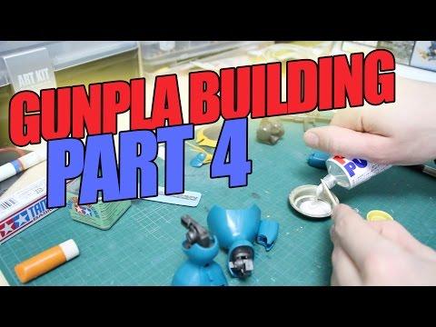 142 - Gunpla Building Part 4: Using a Pin Vice, Removing Seam Lines