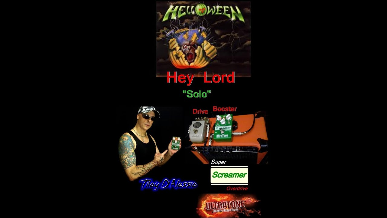 "Hey Lord (Helloween) Guitar Cover ""Solo""...Tiloy D'Alessio"