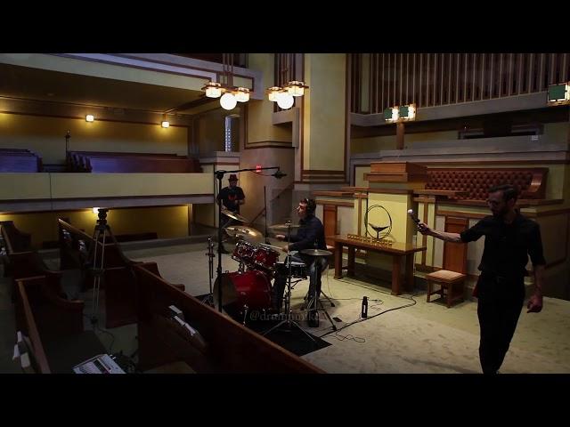 Drumming inside of Unity Temple, Oak Park, IL to Mozart's Sonata in A K311