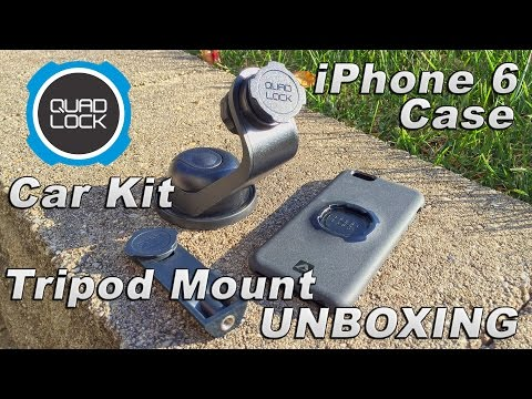 Quad Lock IPhone 6 Case, Car Kit And Tripod Adapter Unboxing!!