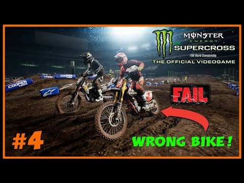 Monster Energy Supercross Career Mode Part 4 WRONG BIKE GLITCH! | PS4 PRO GAMEPLAY