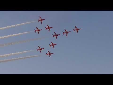 Athens Flying Week 2017 The Royal Air Force Aerobatic Team Red Arrows Full Display
