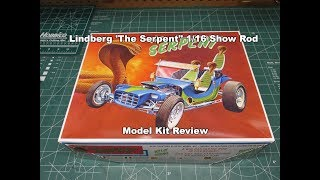 LINDBERG THE SERPENT SHOW ROD 1:16 SCALE MODEL KIT REVIEW HL137 A s...