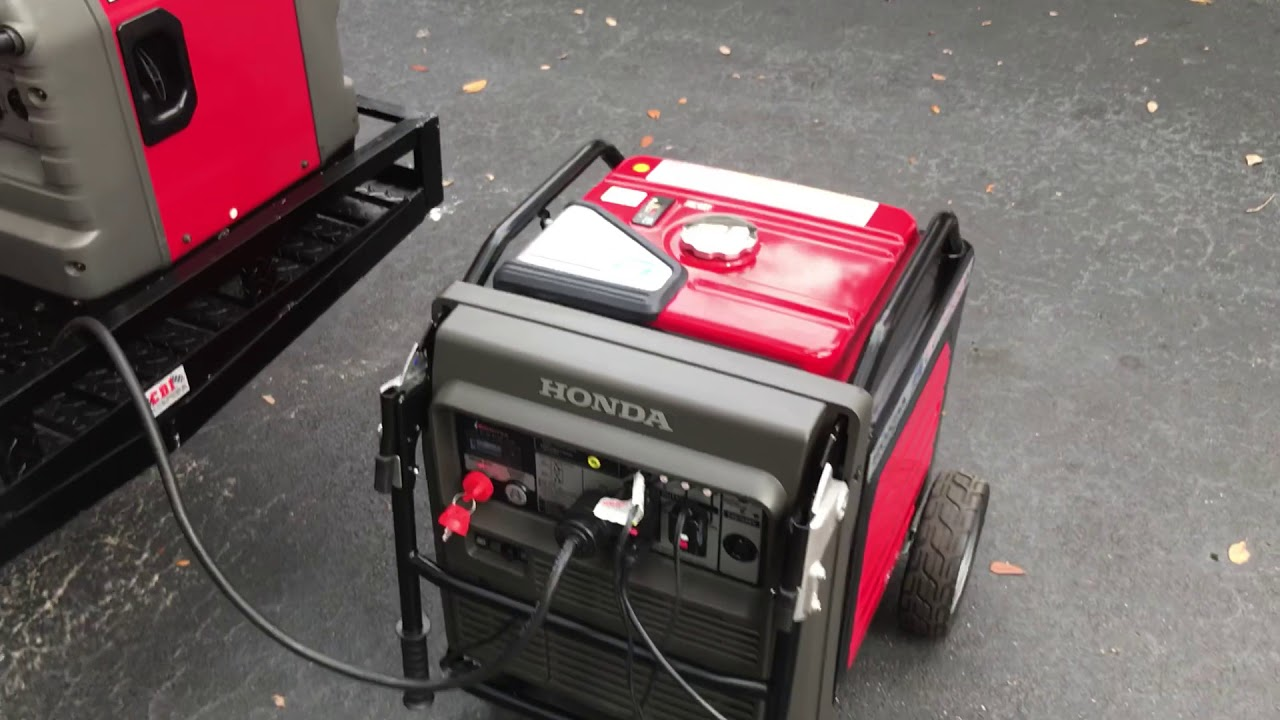 Honda EU7000is Inverter review at over full load on simulated load bank. Maximum load? Load ...