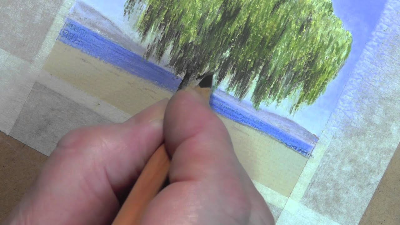 willow tree speed painting in pastel pencils youtube
