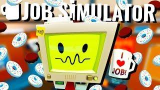 World's BEST Office Worker! - Job Simulator VR Gameplay - HTC Vive VR
