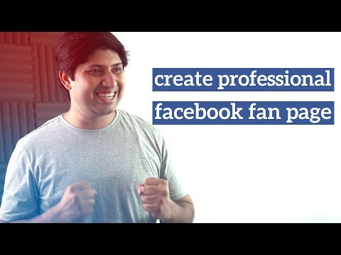 How To Create Facebook Fan Page In Hindi | Professional Facebook Fan Page
