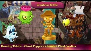 Plants vs Zombies 2 - Homing Thistle Ghost Pepper vs Pirate Seas Zomboss Zombot Plank Walker