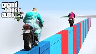 """MOTOCYKLEM TAM NIE DOJADĘ?! w GTA 5 Online Hogaty i EKIPA """"PARKOUR I TROLL"""" #369"""