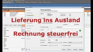 Lieferung ins Ausland - steuerfreie Rechnung in Lexware erstellen   LexBlogTV