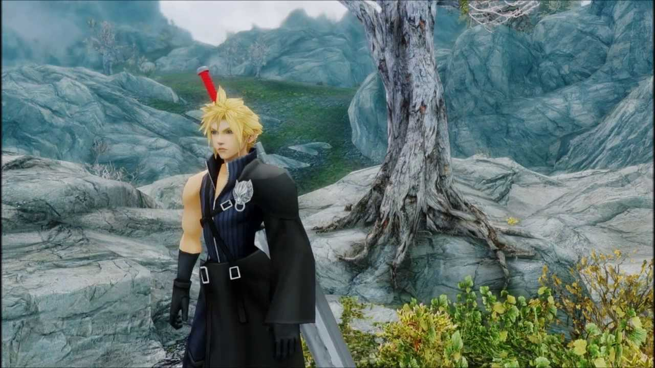 Skyrim Cloud Strife Advent Children Mod Youtube