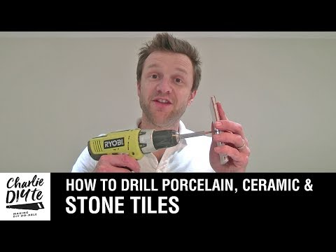 How To Drill A Hole In Porcelain, Ceramic, Or Stone Tiles - Video 1 Of 3