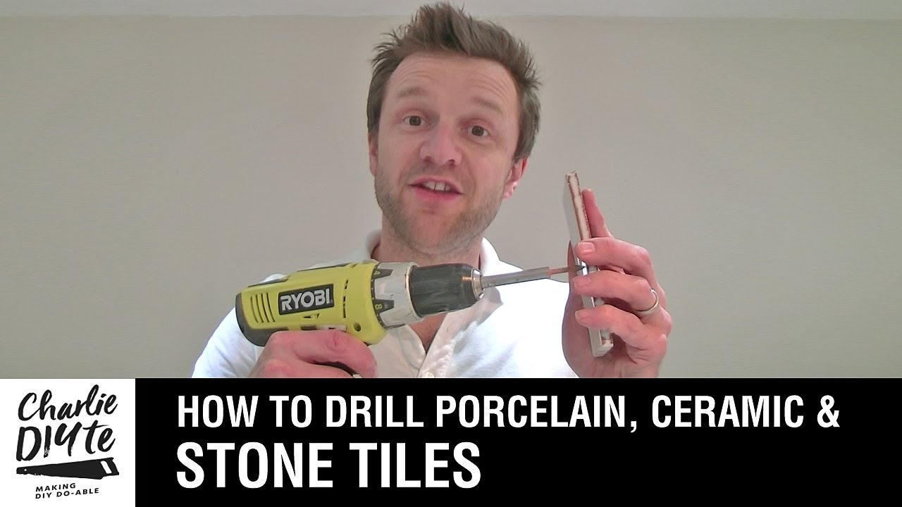 How to drill a hole in porcelain ceramic or stone tiles how to drill a hole in porcelain ceramic or stone tiles episode 1 dailygadgetfo Image collections