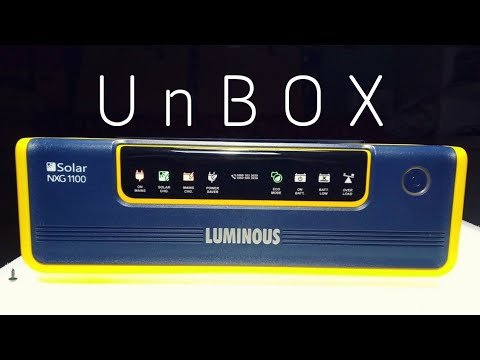 Luminous Solar NXG 1100 Hybrid Inverter. Connection. Features & Installation🔥