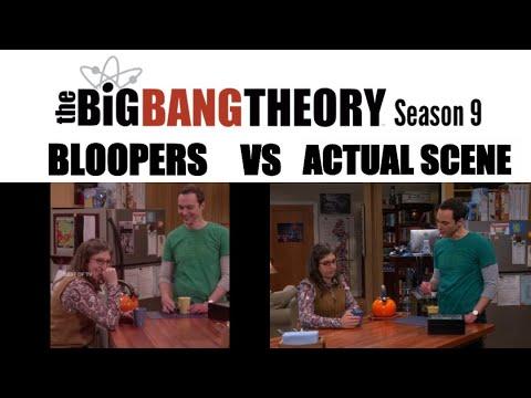 Download The Big Bang Theory Season 9 | Bloopers vs Actual Scene