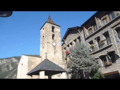 Church and Cobbled Streets in Ordino   Andorra   October 2014