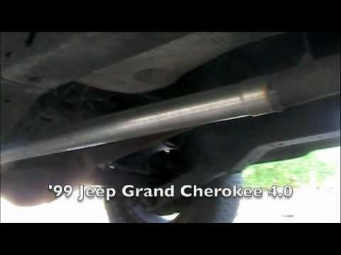 Jeep Grand Cherokee 40 Straight Pipe Exhaust  YouTube