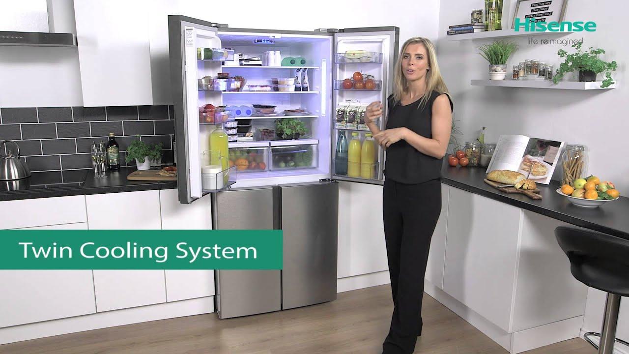 Hisense Rq562n4ac1 American Fridge Freezer Youtube