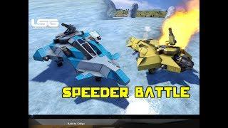 Space Engineers - Ice Speeder Battle (CARNAGE & DESTRUCTION)