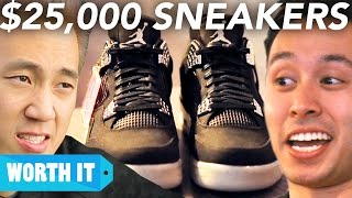 Download $100 Sneakers Vs. $25,000 Sneakers Mp3 and Videos