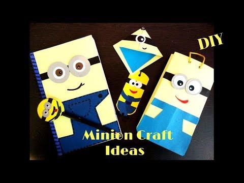 5 amazing minion craft ideas |  DIY school supplies | Easy and cute Minion craft ideas