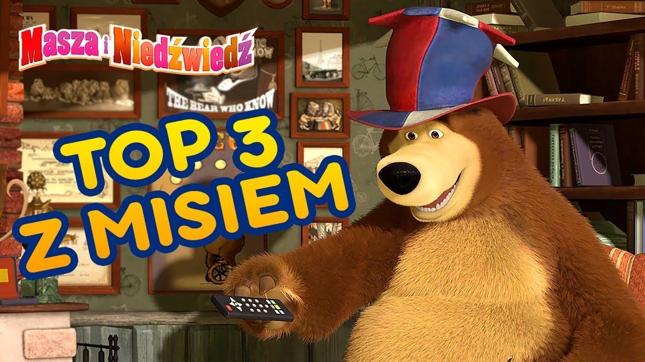 Masza i Niedźwiedź????????Top 3 z Misiem????????Śmieszne bajki dla dzieci