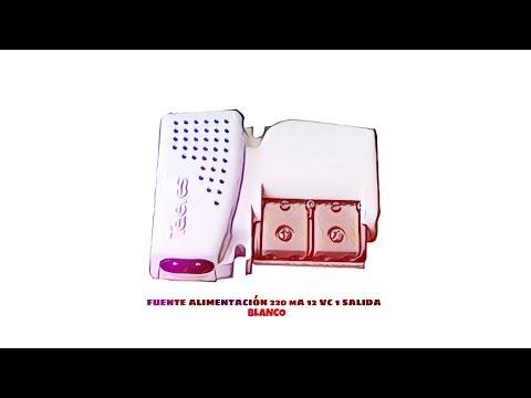 Video de Fuente Alimentacion 220 mA 12 Vc 1 salida  Blanco