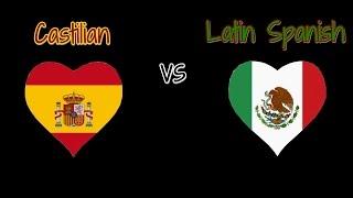 Non/Disney Female Voices : Castilian vs Latin Spanish