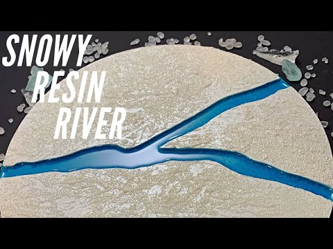 DIY Resin River Wall Art | Ice and Snow with Glass Bead Gel Texture