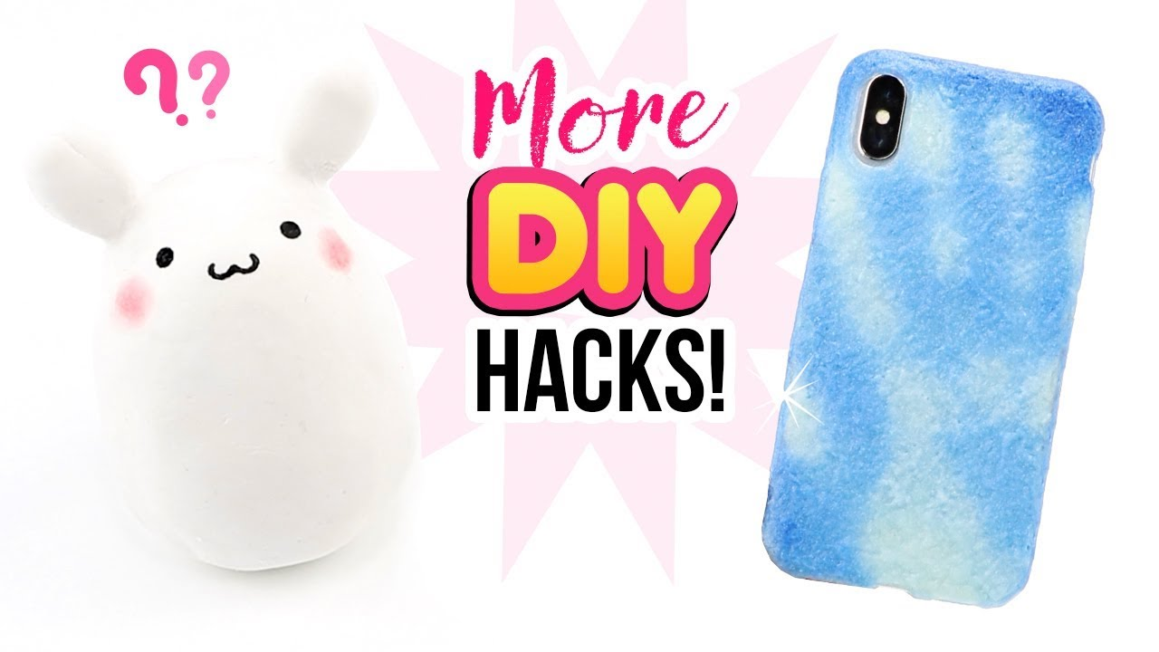 bd1a556bd9 MORE Budget DIY Hacks!! How To Make Bunny Squishy & Color-Changing Paint!  Easy Craft Ideas