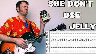 how to play flaming lips she don't use jelly guitar lesson tab chords