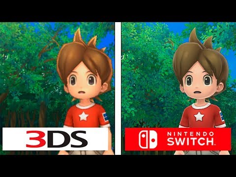 Yo-kai Watch | Switch vs 3DS | Graphics Comparison