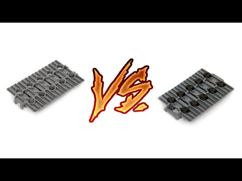 Performance test: LEGO bare tracks VS LEGO tracks with rubber attachments
