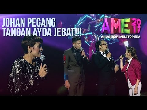 Skandal Johan Pegang Tangan Ayda Jebat. Ozlyn Mengamuk Atas Pentas! #AME2017