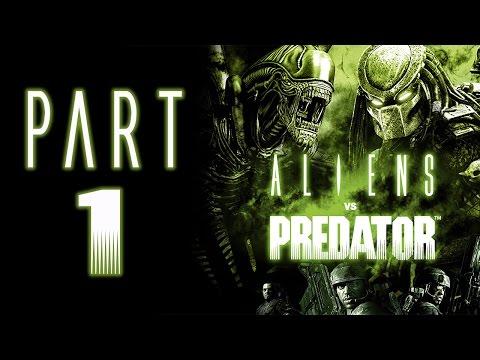 "Aliens Vs. Predator (2010) - Let's Play - Part 1 - ""Marine: Colony"" | DanQ8000"