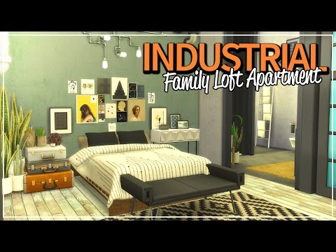 The Sims 4: Speed Build | Industrial Family Loft Apartment