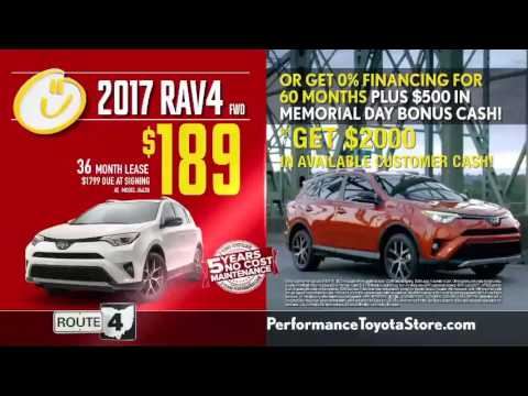 Lease or Finance 2017 Toyota Rav4 Best Deals at Performance Toyota Cincinnati